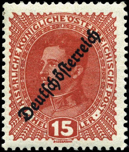 Austrian Stamp Of Charles I Overprinted Deutschosterreich